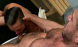Mike`s ass is lubed and ready for a big dick so Marc pushes ...