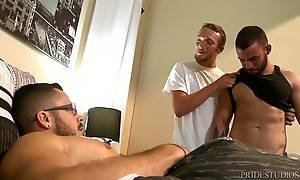 Zeke has a surprise for his longtime boyfriend Valentin who is dead asleep dreaming of cocks and balls.