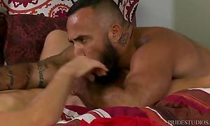 Alessio fucks him hard and deep until Peter`s little ass puc...