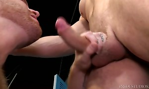 Once he sees the big uncut cock, Jack cannot help but stroke...