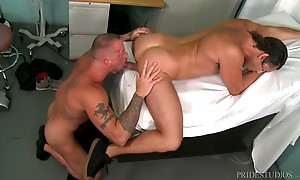 Sean & Alexander slip into the exam room at the Hospital the...