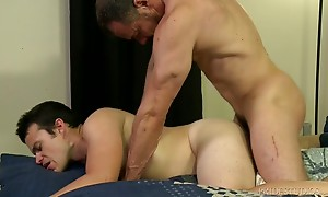 Max loves to eat that young ass as he spreads Jason`s leg wi...
