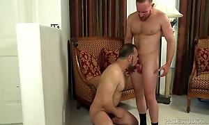 Max then sucks Stevens cock for a while before bending him o...