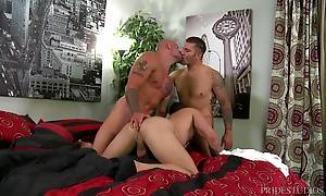 This time Caleb finds himself in his first three-way ever an...