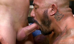 They swap BJs, then Alessio spreads open his ass and gets hi...