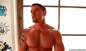 Hot looking Cody Cummings starts sensual solo action.