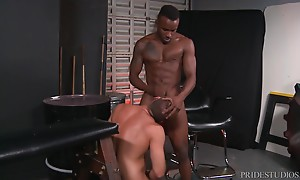 He then starts fucking Jack with his thick, throbbing and bi...