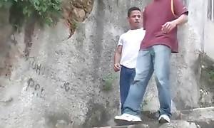 Two hot young Latin friends hang out, looking for place to f...